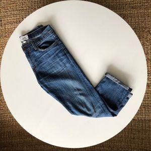 Current/Elliott Cuffed Ankle Boyfriend Jeans